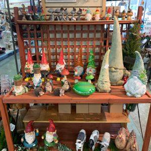 garden gnomes and animals